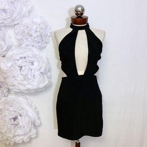 Tobi Dresses - New TOBI black bodycon choker dress M